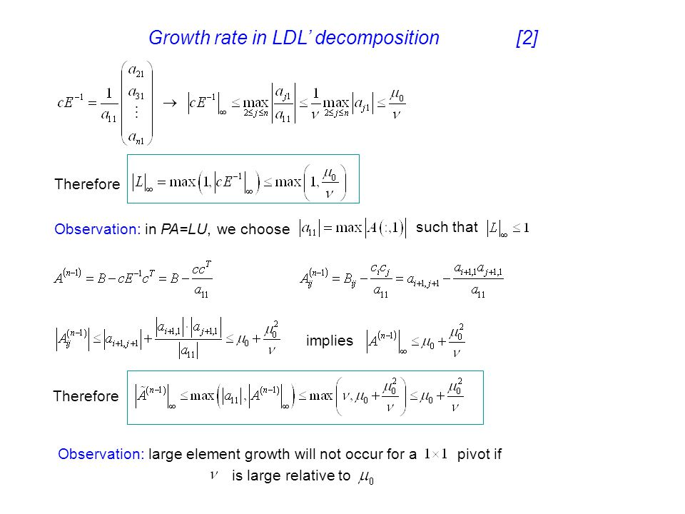 Growth rate in LDL' decomposition [2]
